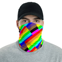 be human rainbow thick candy stripe face mask bike / run / shop / live / be human / be safe / be proud