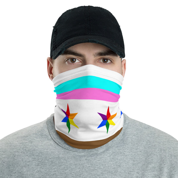 face mask / bike / run / shop / live / be human / stay safe and show your chicago queer pride and sense of community!
