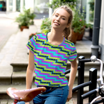 human just like you cmyk All-Over Print Crop Tee