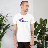 Bear stan all gender T-Shirt we stan bears!! be bear stan!! rainbow print.