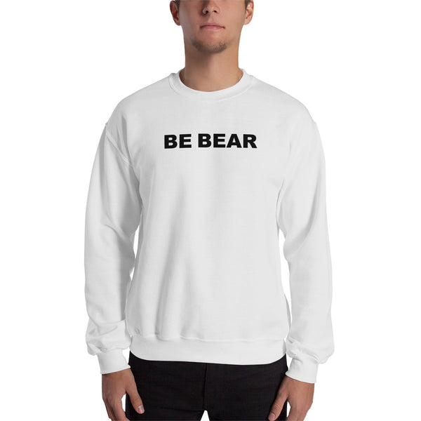 """be bear"" Sweatshirt (black graphic)"