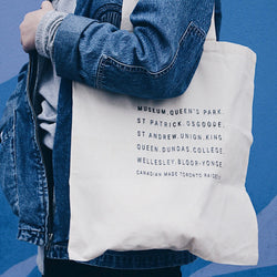 Toronto Subway Tote Bag