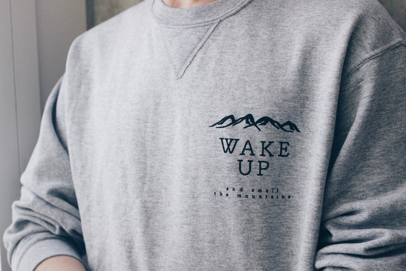 Wake Up and Smell the Mountains Crewneck