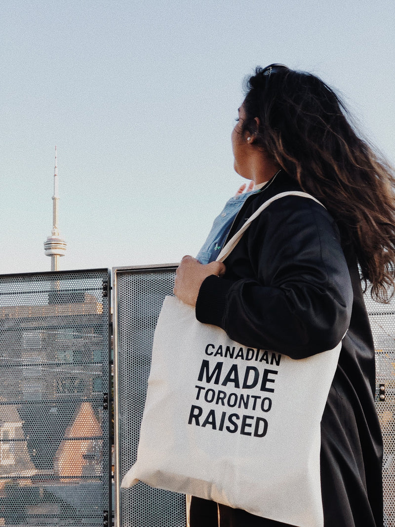 Canadian Made Toronto Raised Tote Bag