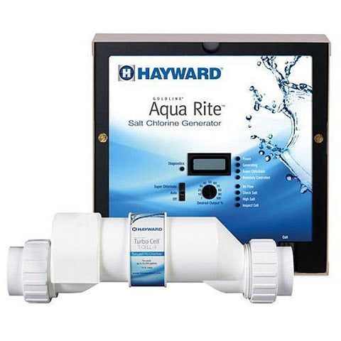 Image of Hayward AQR9XLCUL Aqua Rite XL Salt Chlorine Generator & 25K Gallon Cell (Plug-in) 120v - K&J Leisure