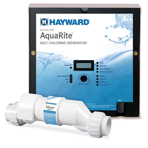 Hayward W3AQR15CUL Goldline AquaRite Electronic Salt Pool Chlorinator Control Box Complete with 40000-Gallon Cell - K&J Leisure