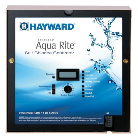 Hayward AQR3XLCUL Aqua Rite XL Salt Chlorine Generator & 15K Gallon Cell (Plug-in) 120V - K&J Leisure