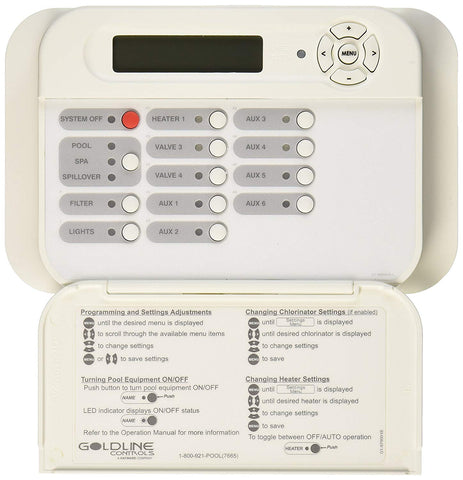 Hayward AQL2-WW-PS-8 White Goldline Wired Wall Mount Remote Display/Keypad Replacement for Hayward Pro Logic PS-8 System