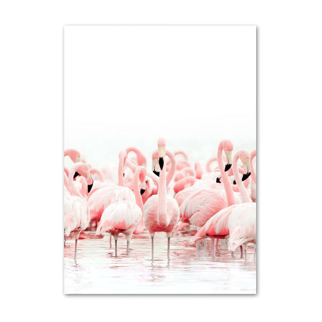 Affiche <br> Lac Flamant Rose