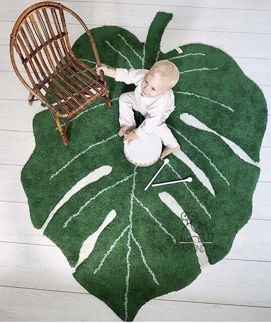 Tapis Feuille Monstera | Decoration-Tropicale.com