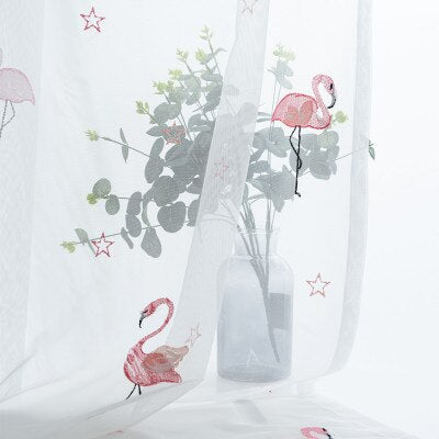 Voilage Flamant Rose | Decoration-Tropicale.com