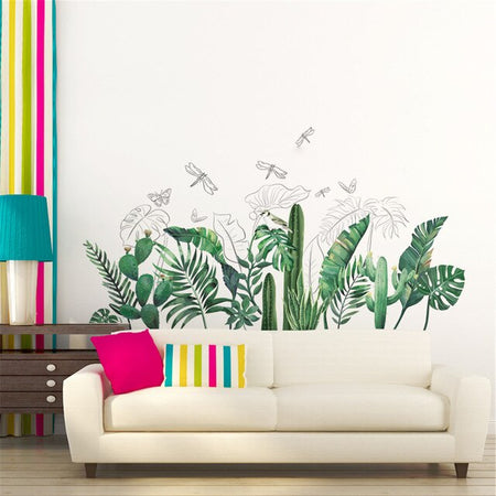Stickers <br> Feuilles Exotiques