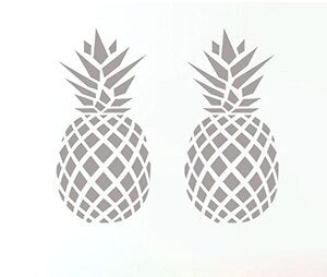 Stickers <br> Ananas Argent