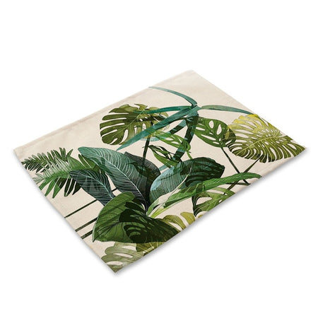Set De Table Feuille De Palmier | Decoration-Tropicale.com