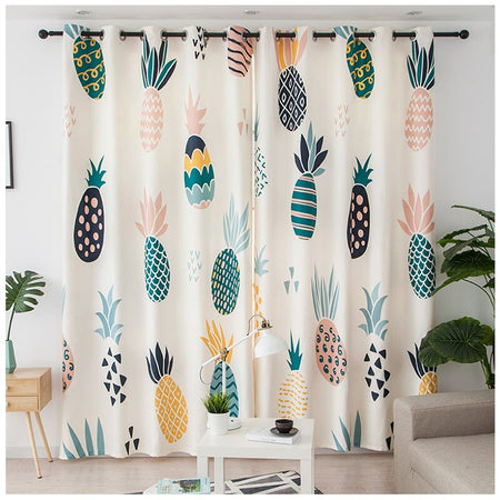 Rideau Motif Ananas | Decoration-Tropicalecom