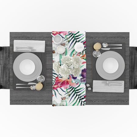 Chemin De Table Fleuri | Decoration-Tropicale.com