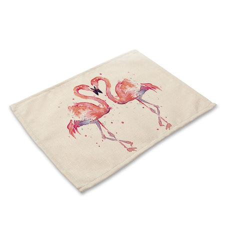 Set De Table Flamant Rose | Decoration-Tropicale.com