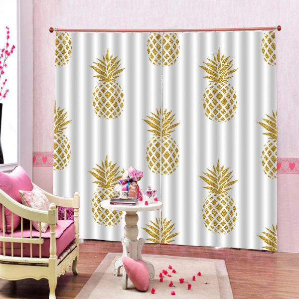 Rideau Chambre Ananas | Decoration-Tropicale.com
