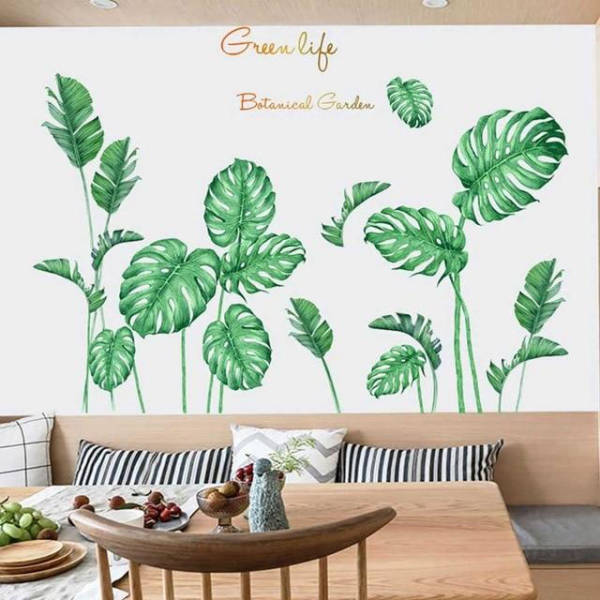 Stickers Feuilles Tropicales