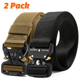 Fairwin Tactical Belt 2 Pack 1.5 Inch Military Tactical Belts for Men - Carry Tool Belt Black and Tan