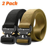 Fairwin Tactical Belt 2 Pack 1.5 Inch Military Tactical Belts for Men - Carry Tool Belt Black and Brown