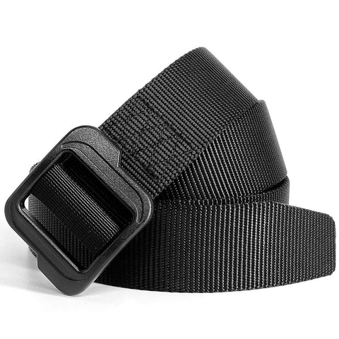 "Fairwin EDC Tactical Belt - Reinforced Thick Concealed Belt - 1.5"" Nylon Webbing Heavy Duty EDC Gun Belt with No Metal No Hole Plastic Buckle Belt"