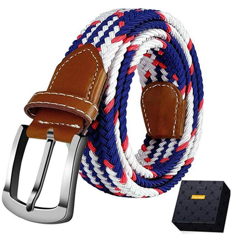 Elastic Stretch Braided Belt, Fairwin Enduring Stretch Woven Belt for Men Women Junior