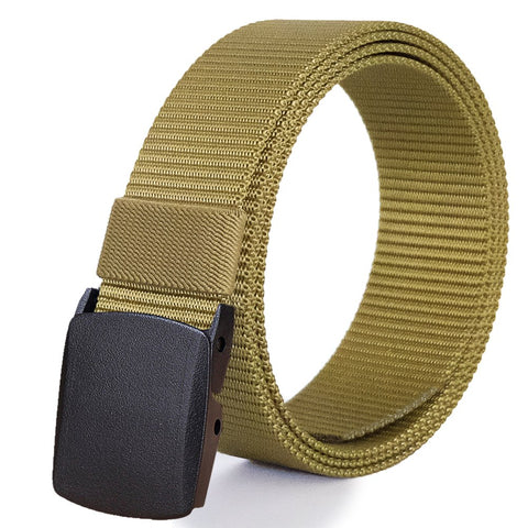 Fairwin Adjustable Nylon Web Belt with Removable YKK Plastic Buckle, Nickel Free Hiking Belt