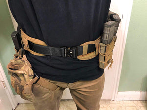"Fairwin Tactical Gun Belts, 1.5"" Heavy Duty Two Layer EDC Belt with Quick-Release Buckle - Reinforced Carry Belts Great for Wilderness Hunting Survival"