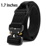 "Fairwin Tactical Rigger Belt, 1.7"" Nylon Webbing Belt with V-Ring Heavy-Duty Quick-Release Buckle"