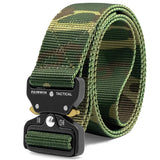 Fairwin Tactical Belt, Military Style Webbing Riggers Web Belt with Heavy-Duty Quick-Release Metal Buckle