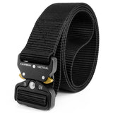 Fairwin Tactical Belt, Military Style Webbing Riggers Web Gun Belt with Heavy-Duty Quick-Release Metal Buckle