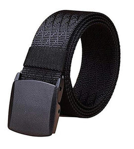 Fairwin Men's Military Tactical Web Belt, Nylon Canvas Webbing No Nickel YKK Plastic Buckle Belt