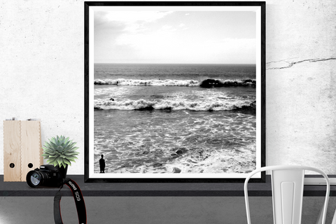 """Watching the Waves"" surfing photography print"