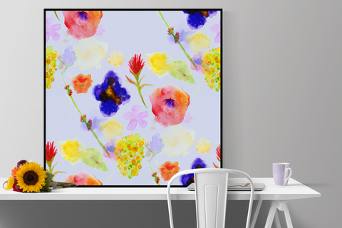 """wildflower garden"" floral watercolor print"