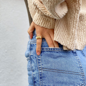 Gold chunky ring - smellthecactus