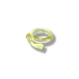 Yellow JELLY WORM lucite  ring  Size 7 - smellthecactus