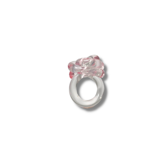 Light Pink Mr Whippy lucite ring - smellthecactus