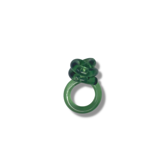Green Mr Whippy lucite ring - smellthecactus