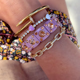 90s lilac and pink crystal bracelet - smellthecactus