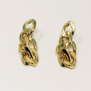 Gold chain drop earrings - smellthecactus