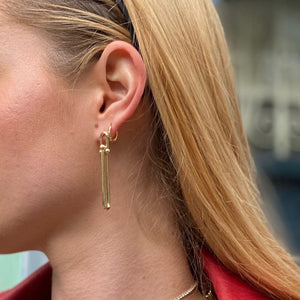 Gold swivel link drop down earrings - smellthecactus