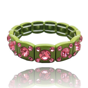 90s green and pink crystal bracelet - smellthecactus