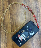 Chain evil eye mobile phone necklace / holder - smellthecactus