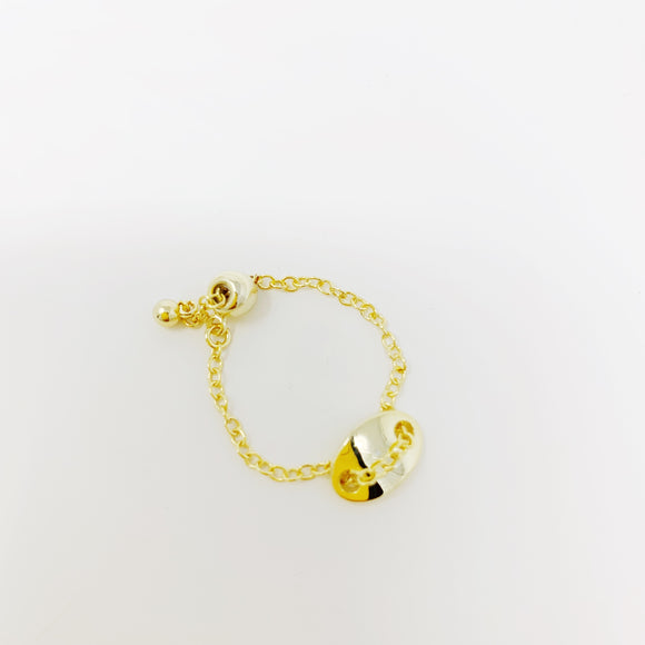 Gold chain ring - smellthecactus