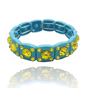 90s turquoise crystal bracelet - smellthecactus