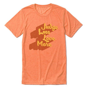 Judge Less Love More Tee (Men) Tee Shirt Higher Vibes Apparel