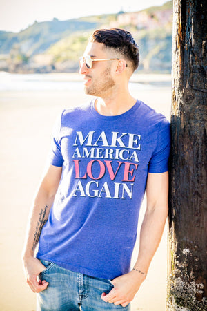 Make America Love Again Tee (Men) Tee Shirt Higher Vibes Apparel