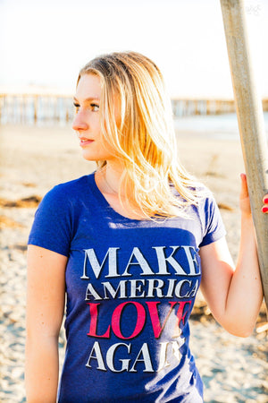 Make America Love Again Tee (Women) Tee Shirt Higher Vibes Apparel