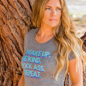 Wake Up Be Kind Tee (Women) Tee Shirt Higher Vibes Apparel
